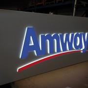 Insegna AMWAY a casonetto con lettere singole luminose a Led_001