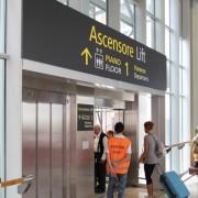 Segnaletica ascensore Aeroporto di Venezia