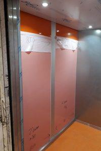 Elevator's walls revemping